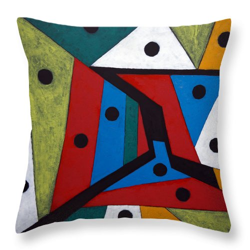 Acrylic Throw Pillow featuring the painting Stars by Sergey Bezhinets