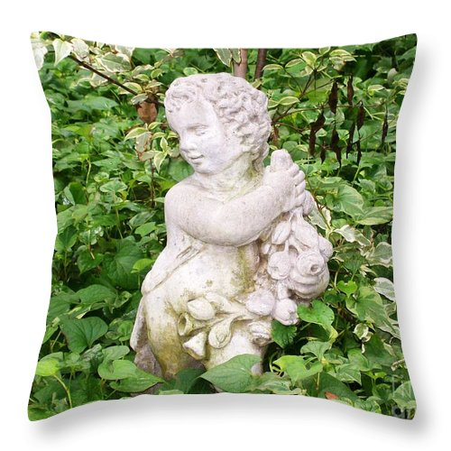 Statue Throw Pillow featuring the photograph Statue by Laurie Eve Loftin
