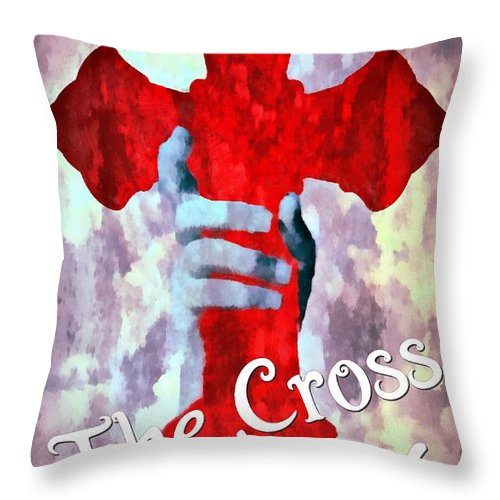 Jesus Throw Pillow featuring the digital art Statue Of Liberty by Michelle Greene Wheeler