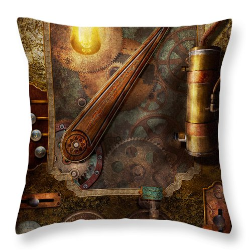 Steampunk - Victorian fuse box Throw Pillow for Sale by Mike SavadFine Art America
