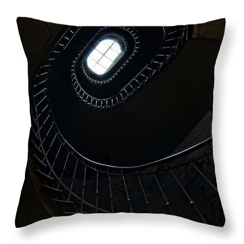 Staircase Throw Pillow featuring the photograph Steel Beauty by Jaroslaw Blaminsky