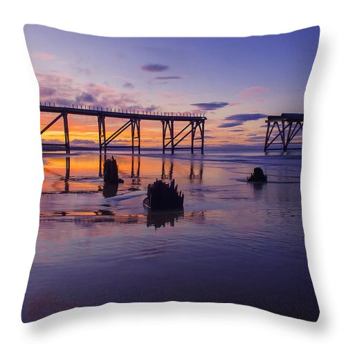 Throw Pillow featuring the photograph Steeley Pier by Anthony Melendrez