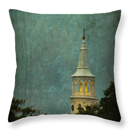 Charleston Throw Pillow featuring the photograph Steeple In A Storm by E Karl Braun
