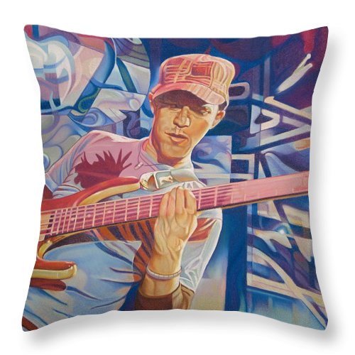 Syefan Lessard Throw Pillow featuring the drawing Stefan Lessard And 2006 Lights by Joshua Morton