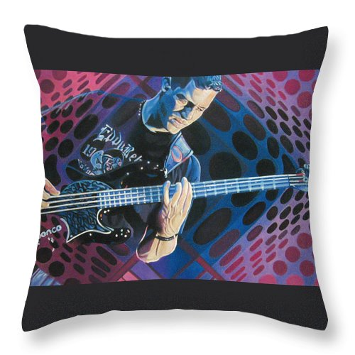 Stefan Lessard Throw Pillow featuring the drawing Stefan Lessard-pop-op Series by Joshua Morton