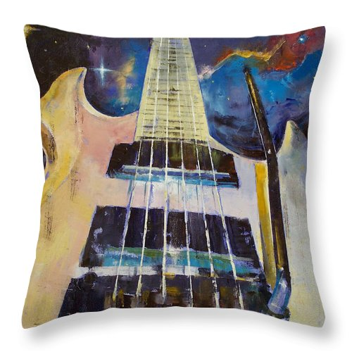 Stellar Throw Pillow featuring the painting Stellar Rift by Michael Creese