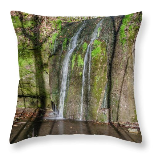 Waterfall Canvas Prints Throw Pillow featuring the photograph Stephen's Falls by Jonah Anderson
