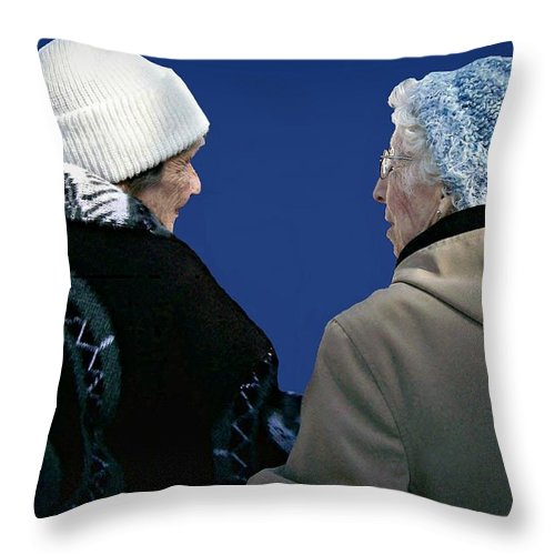 People Throw Pillow featuring the photograph Stepping Out by Barbara S Nickerson