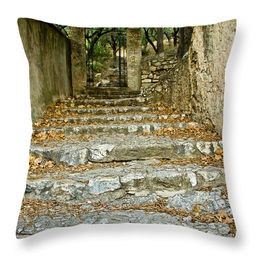 Europe Throw Pillow featuring the photograph Steps In Cavaillon by Oleg Koryagin