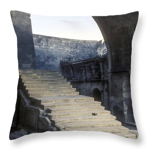 Montmajor France Step Steps Ruin Ruins Monastery Monasteries Throw Pillow featuring the photograph Steps To Paradise by Bob Phillips