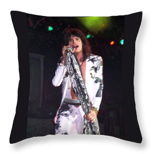 Throw Pillow featuring the photograph Steven Tyler by Sheryl Chapman Photography