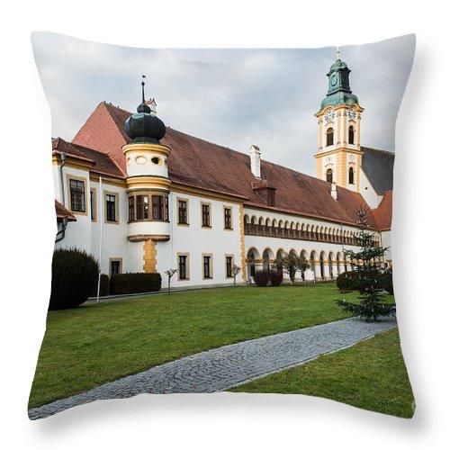 Austria Throw Pillow featuring the photograph Stift Reichersberg by Hannes Cmarits