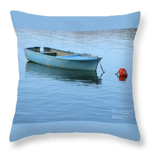 Rowboat Throw Pillow featuring the photograph Still Afloat by Ann Horn