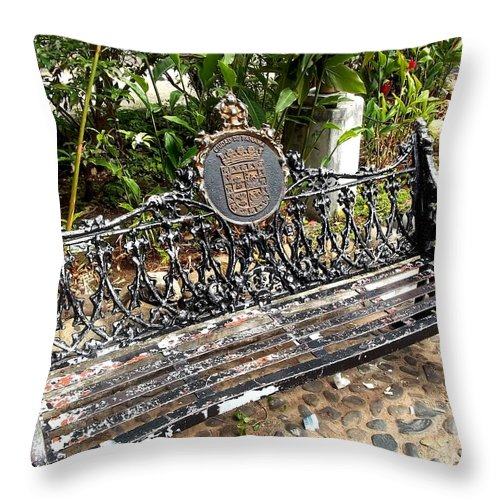Chair Throw Pillow featuring the painting Still Always Alone by Vladimir Berrio Lemm