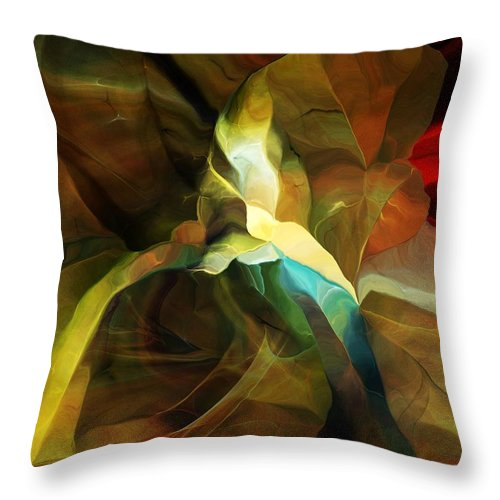 Throw Pillow featuring the digital art Still Life 110214 by David Lane