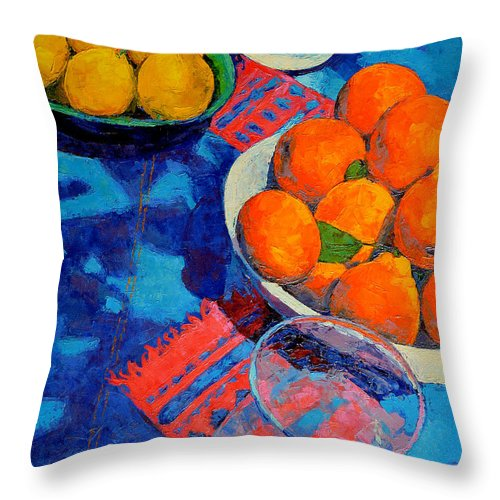 Still Life Throw Pillow featuring the painting Still Life 2 by Iliyan Bozhanov