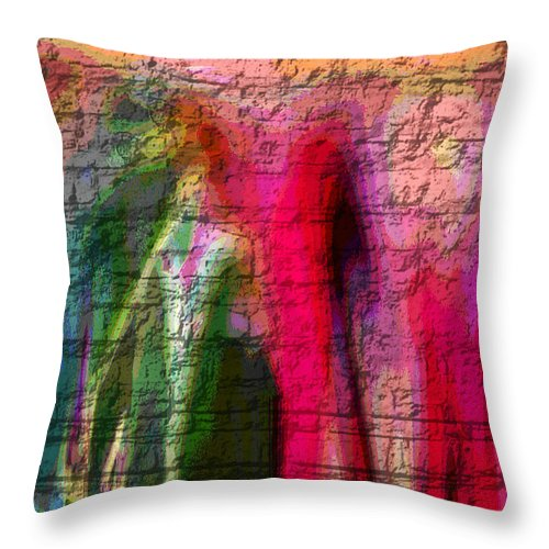 Abstract Throw Pillow featuring the digital art Stone Art Abstract by Absinthe Art By Michelle LeAnn Scott