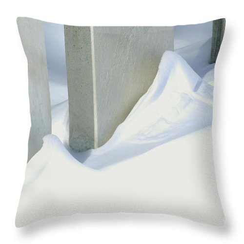 Historical Throw Pillow featuring the photograph Stone Cold by Paul W Faust - Impressions of Light