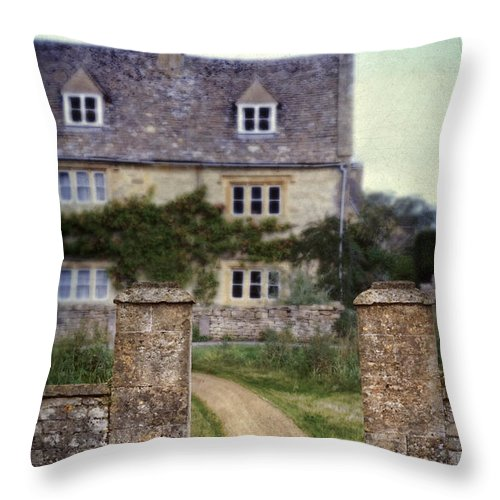 House Throw Pillow featuring the photograph Stone House by Jill Battaglia