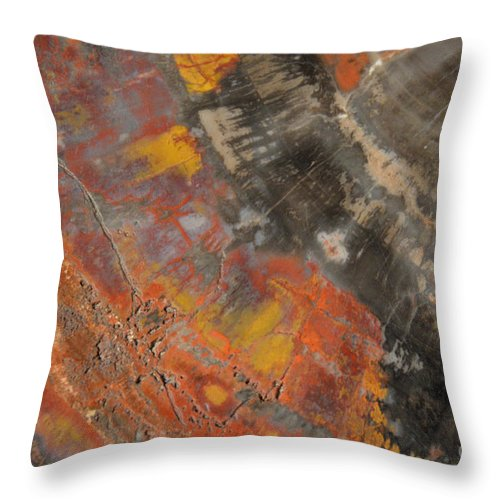 Abstract Throw Pillow featuring the photograph Stone Legand by Keith Lyman