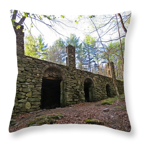 Castle Ruins Throw Pillow featuring the photograph Stone Ruins by MTBobbins Photography