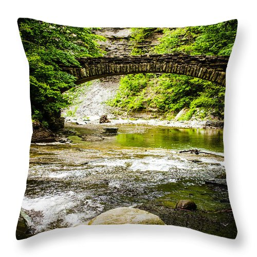 Stony Brook State Park Throw Pillow featuring the photograph Stony Brook State Park by Sara Frank