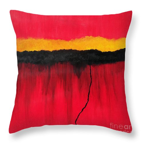 Abstract Throw Pillow featuring the painting Storm by Amanda Sheil