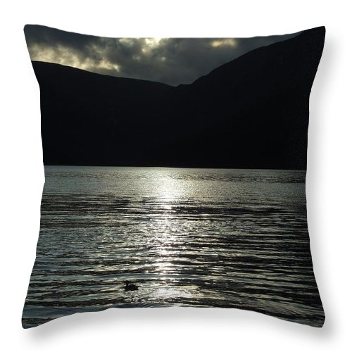 Storm Throw Pillow featuring the photograph Storm Brewing by Martin Masterson