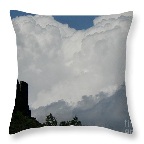 Cathar Throw Pillow featuring the photograph Storm Coming by Dona Dugay