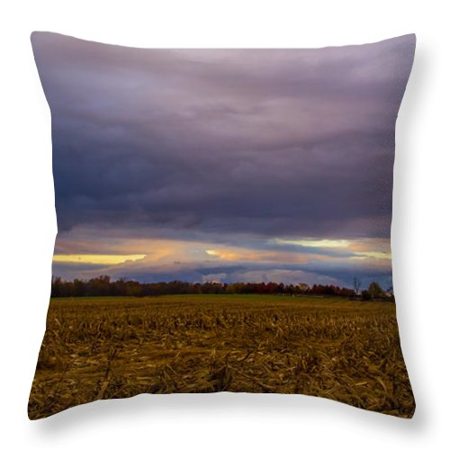 Storm Photo Throw Pillow featuring the photograph Storm Coming by Michael J Samuels