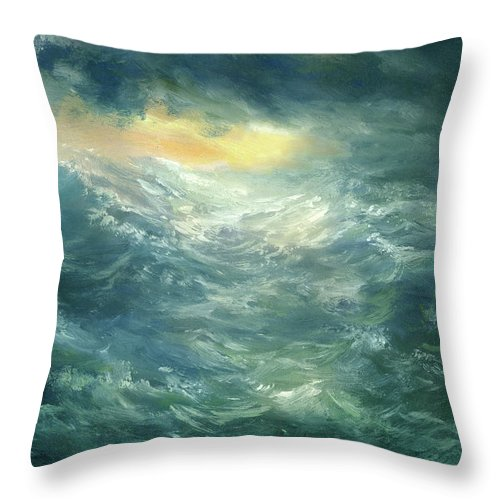 Scenics Throw Pillow featuring the digital art Storm Is Coming by Pobytov
