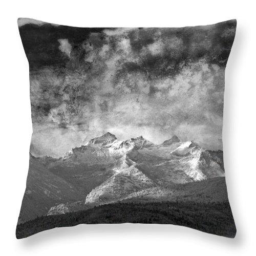 Montana Art Throw Pillow featuring the photograph Storm Over Como by Joseph J Stevens