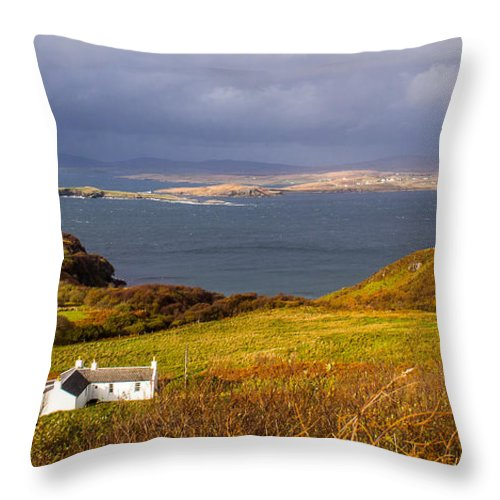 Scotland Throw Pillow featuring the photograph Storm Over Skye by Mark Llewellyn