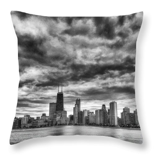 Chicago Throw Pillow featuring the photograph Storms Over Chicago by Margie Hurwich