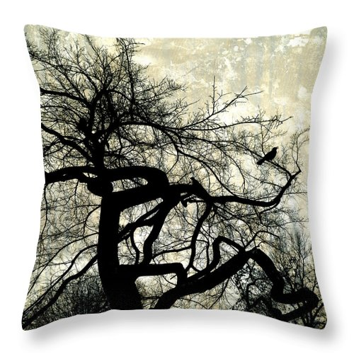 Tree Throw Pillow featuring the photograph Stormy Weather by Ann Powell