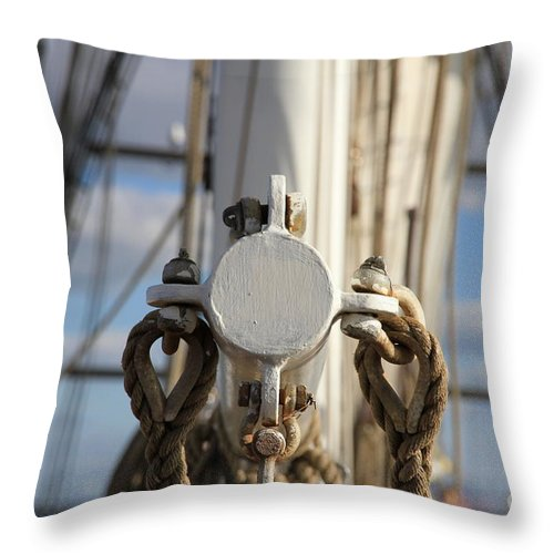 Eye Throw Pillow featuring the photograph Straight Ahead by Four Hands Art