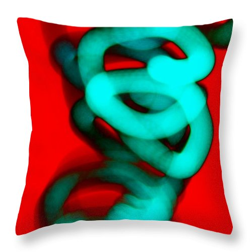 Contemporary Throw Pillow featuring the photograph Dimensional Tolerance by M Pace