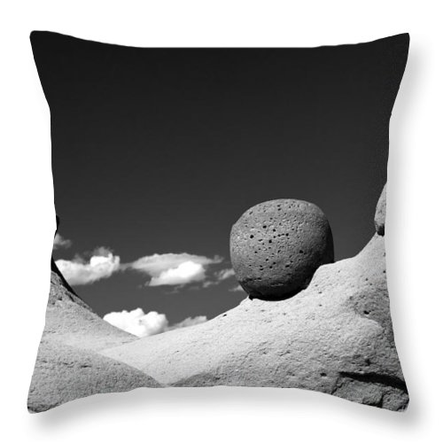 Unique Photos Throw Pillow featuring the photograph Strange Rocks 30 Bw by Roger Snyder