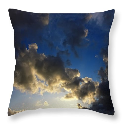 Landscape Throw Pillow featuring the photograph Stratosphere To Surface by Jan Brons