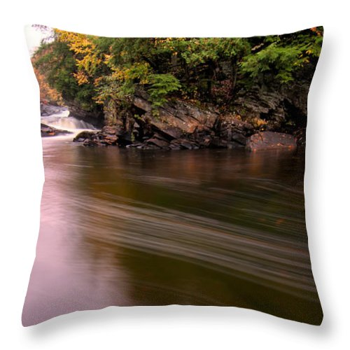 Autumn Throw Pillow featuring the photograph Streaky Water by James Wheeler