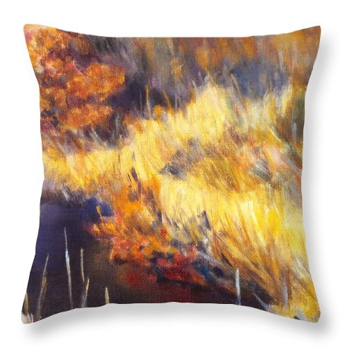 Stream Throw Pillow featuring the painting Stream by Kendall Kessler