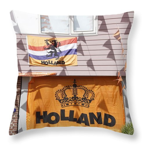 Street Art Throw Pillow featuring the photograph Street Decoration by Ronald Jansen