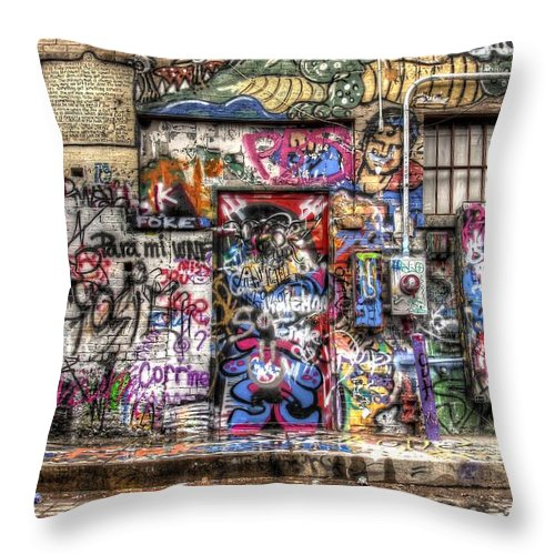 Graffiti Throw Pillow featuring the photograph Street Life by Anthony Wilkening