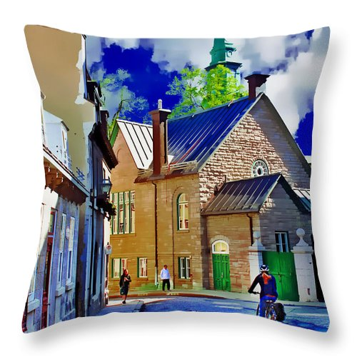 Bicycle Throw Pillow featuring the photograph Street Life Series 01 by Carlos Diaz
