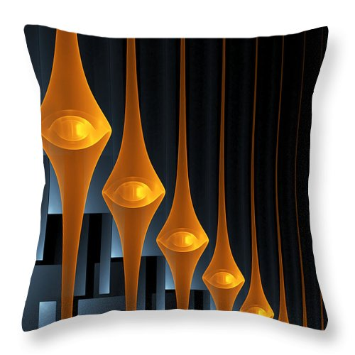 Street Lights Throw Pillow featuring the digital art Street Lights by Gabiw Art