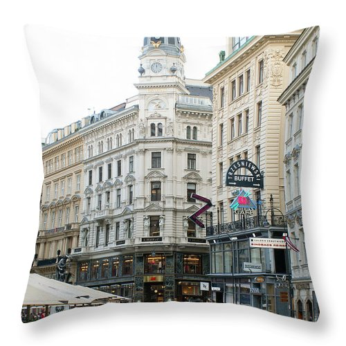 Austria Throw Pillow featuring the photograph Street Of Vienna by Evgeny Pisarev