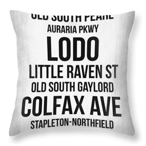 Denver Throw Pillow featuring the digital art Streets Of Denver 4 by Naxart Studio