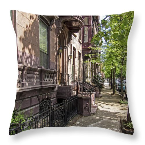 Troy Throw Pillow featuring the photograph Streets Of Troy New York by Eric Swan