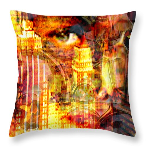 Big City Throw Pillow featuring the photograph Streetwalker by Seth Weaver