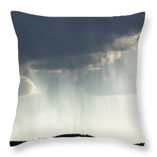 God Rays Throw Pillow featuring the photograph Strength From Above by Carolyn Fox